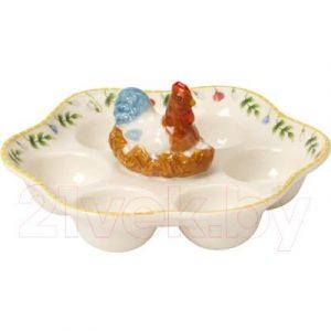 Блюдо для яиц Villeroy & Boch Spring Awakening Петух и курица / 14-8638-3593