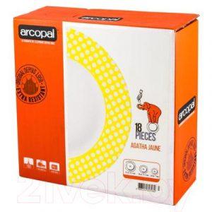 Набор тарелок Arcopal Agatha Jaune / N2920