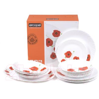 Набор тарелок Arcopal Red Romance / P5923