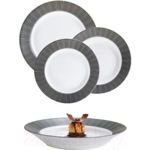 Набор тарелок Luminarc Astre Black P8138