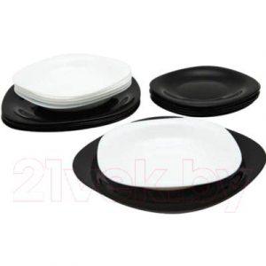 Набор тарелок Luminarc Carine Black/White N1479
