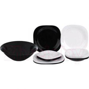 Набор тарелок Luminarc Carine Black/White N1491