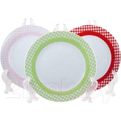 Набор тарелок Maestro Клетка MR-10009-04