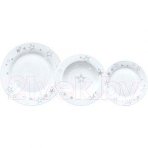 Набор тарелок Tognana Olimpia/Etoile silver / OM070185699