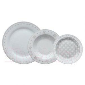 Набор тарелок Tognana Olimpia/Vichy Beige / OM070185562