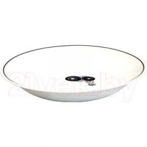 Тарелка столовая глубокая Bormioli Rocco Вайт Мун Блэк Тулип 480180-660